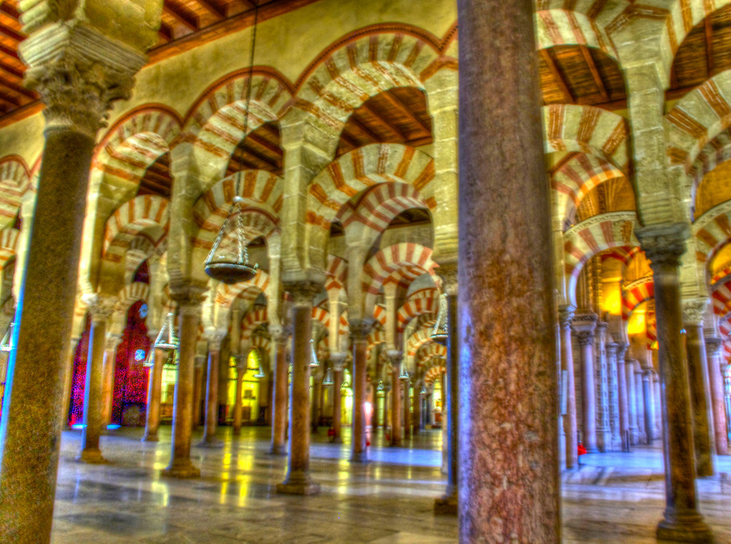 Inside of the Mezquita-Catedral in Cordoba