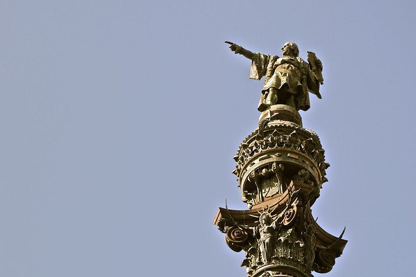 Columbus's sculpture column head